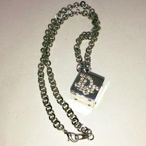 Vintage Dior rhinestone die necklace